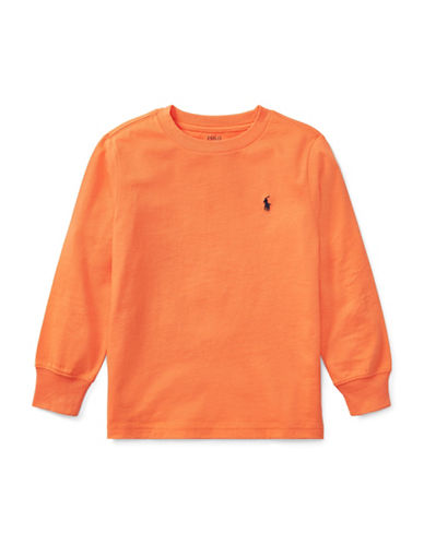 Ralph Lauren Childrenswear Long-Sleeve Cotton Jersey T-Shirt-ORANGE-4T 89476298_ORANGE_4T