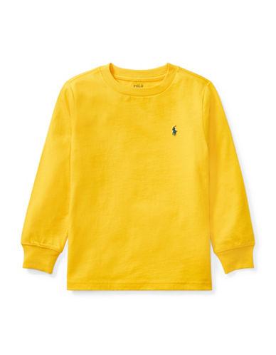 Ralph Lauren Childrenswear Long-Sleeve Cotton Jersey T-Shirt-YELLOW-4T