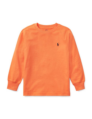 Ralph Lauren Childrenswear Long-Sleeve Cotton Jersey T-Shirt-ORANGE-5