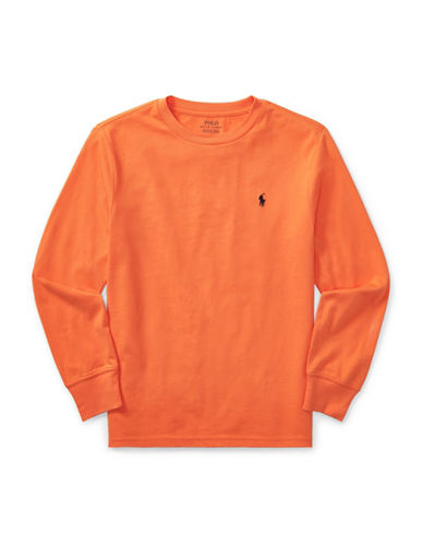 Ralph Lauren Childrenswear Long-Sleeve Cotton Jersey T-Shirt-ORANGE-X-Large 89477736_ORANGE_X-Large