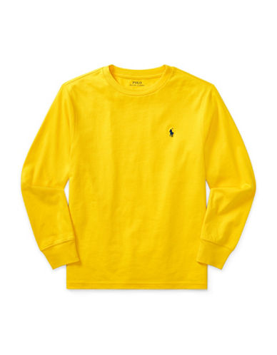 Ralph Lauren Childrenswear Long-Sleeve Cotton Jersey T-Shirt-YELLOW-Large
