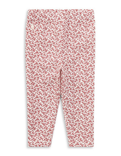 Ralph Lauren Childrenswear Floral Jersey Leggings-PINK-12 Months