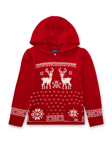 Ralph Lauren Childrenswear Holiday Hooded Sweater-RED-3