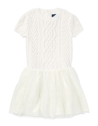 Ralph Lauren Childrenswear Wool Fit-and-Flare Sweater Dress-NATURAL-2