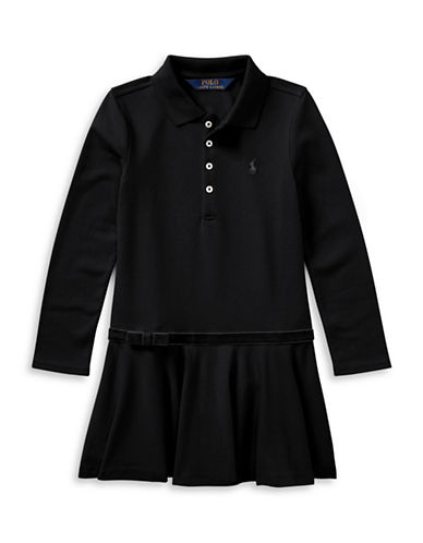 Ralph Lauren Childrenswear Drop-Waist Collared Dress-BLACK-6