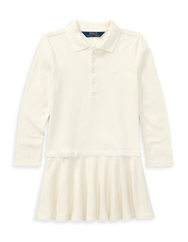 Ralph Lauren Childrenswear Drop-Waist Collared Dress-WHITE-6