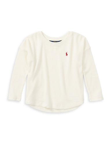 Ralph Lauren Childrenswear Knit Logo Top-WHITE-6