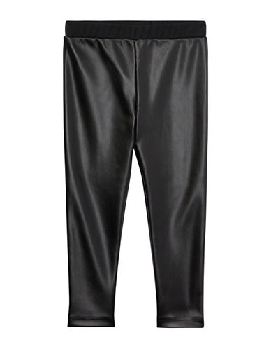 Ralph Lauren Childrenswear Two-Tone Stretch Leggings-BLACK-6X