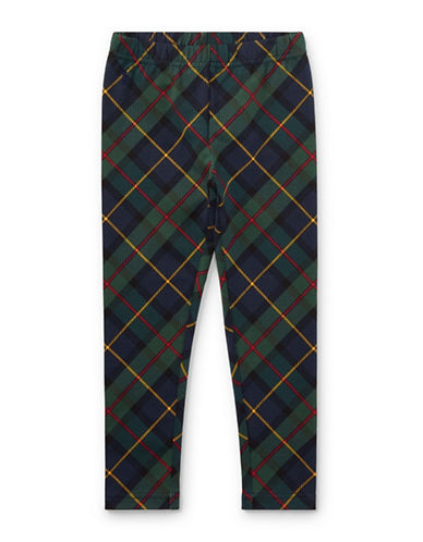 Ralph Lauren Childrenswear Tartan Leggings-BLUE-6