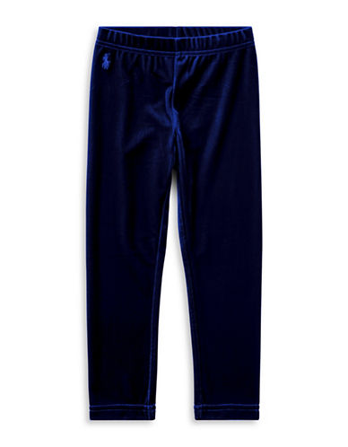 Ralph Lauren Childrenswear Stretch Velvet Leggings-BLUE-6
