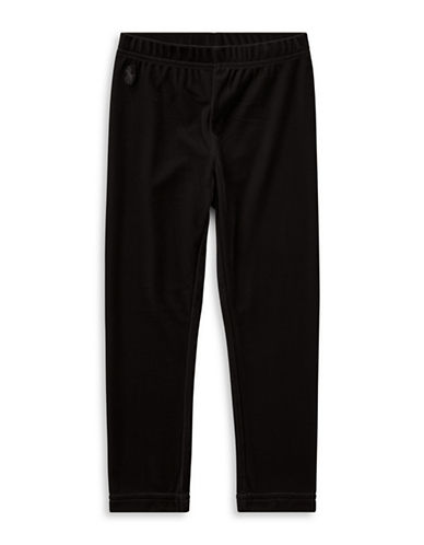 Ralph Lauren Childrenswear Stretch Velvet Leggings-BLACK-3