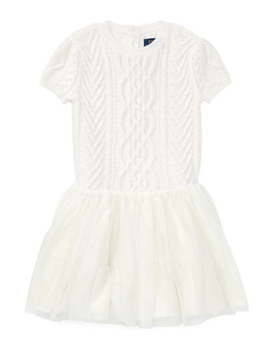 Ralph Lauren Childrenswear Wool Fit-and-Flare Sweater Dress-NATURAL-5