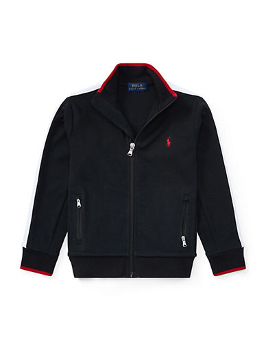 Ralph Lauren Childrenswear Cotton Interlock Track Jacket-BLACK-4T