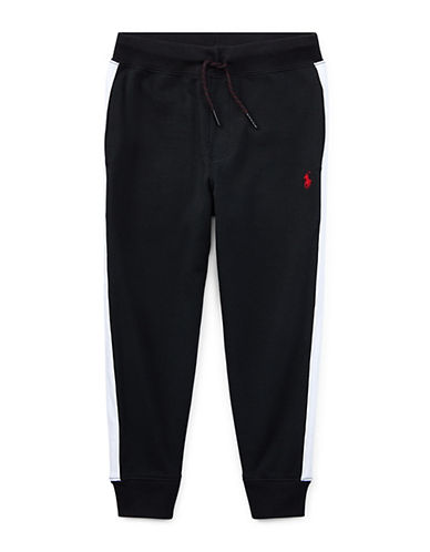 Ralph Lauren Childrenswear Cotton Interlock Jogger Pants-BLACK-2T