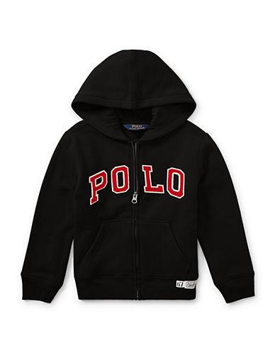 Ralph Lauren Childrenswear Signature Logo Hoodie-BLACK-2T
