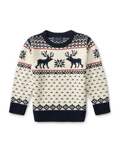 Ralph Lauren Childrenswear Reindeer Cotton-Wool Sweater-CREAM-7