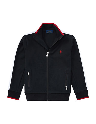 Ralph Lauren Childrenswear Interlock Cotton Track Jacket-BLACK-7