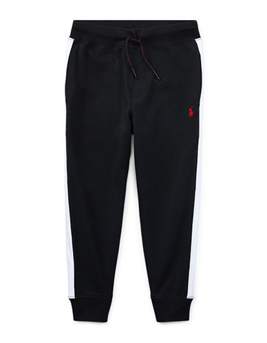 Ralph Lauren Childrenswear Interlock Cotton Jogger Pants-BLACK-6