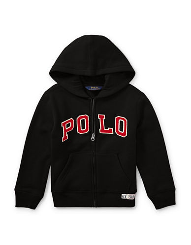 Ralph Lauren Childrenswear Fleece Hooded Jacket-BLACK-6