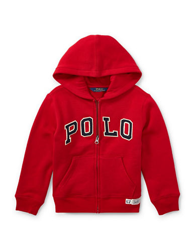 Ralph Lauren Childrenswear Fleece Hooded Jacket-RED-5