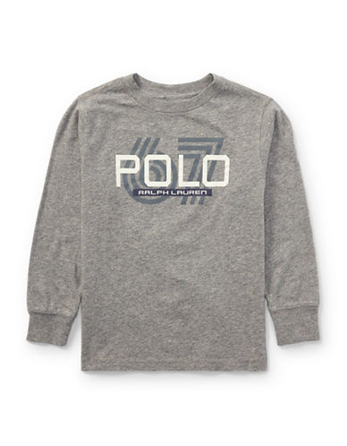 Ralph Lauren Childrenswear Graphic Cotton Jersey T-Shirt-GREY-5