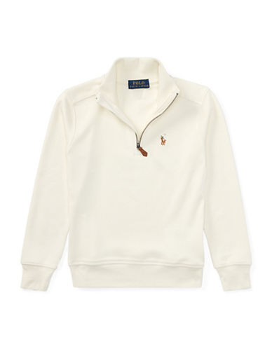 Ralph Lauren Childrenswear Half-Zip Cotton Pullover-CREAM-7