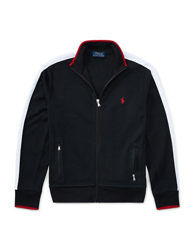 Ralph Lauren Childrenswear Cotton Interlock Track Jacket-BLACK-Small 89581028_BLACK_Small