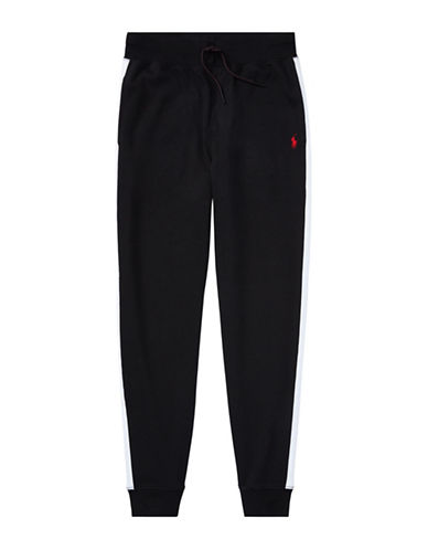 Ralph Lauren Childrenswear Cotton Interlock Jogger Pants-BLACK-Medium