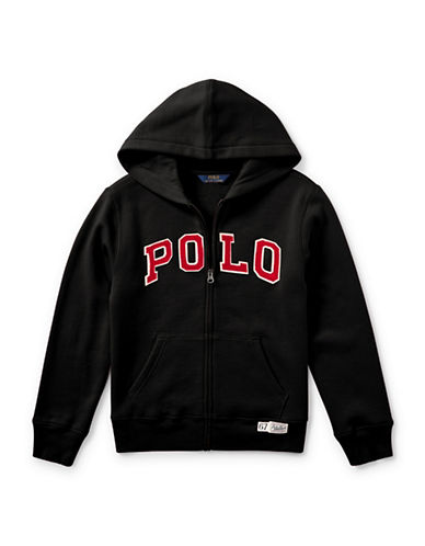 Ralph Lauren Childrenswear Zippered Logo Hoodie-BLACK-Medium 89581059_BLACK_Medium