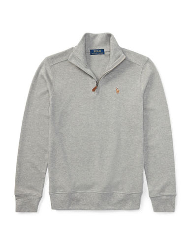 Ralph Lauren Childrenswear Cotton Half-Zip Pullover-GREY-X-Large