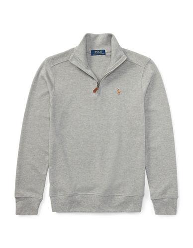 Ralph Lauren Childrenswear Cotton Half-Zip Pullover-GREY-X-Large 89581093_GREY_X-Large