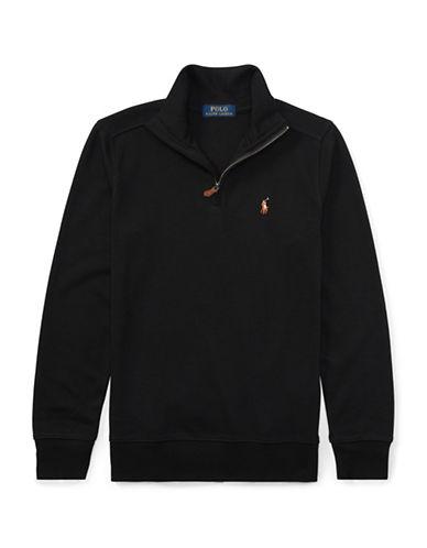 Ralph Lauren Childrenswear Cotton Half-Zip Pullover-BLACK-Small