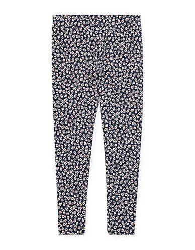 Ralph Lauren Childrenswear Floral Stretch Leggings-BLUE-2T