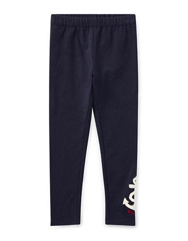 Ralph Lauren Childrenswear Anchor Jersey Leggings-BLUE-6X