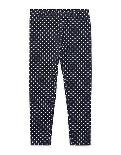 Ralph Lauren Childrenswear Polka-Dot Jersey Leggings-BLUE-6X