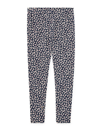 Ralph Lauren Childrenswear Floral Stretch Leggings-BLUE-5