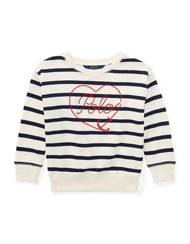 Ralph Lauren Childrenswear Striped Terry Sweatshirt-BEIGE-5