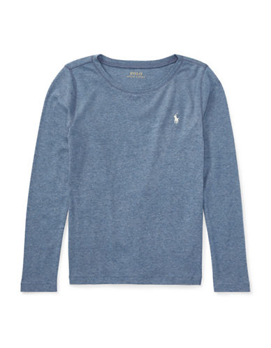 Ralph Lauren Childrenswear Crew Neck Tee-BLUE-Small