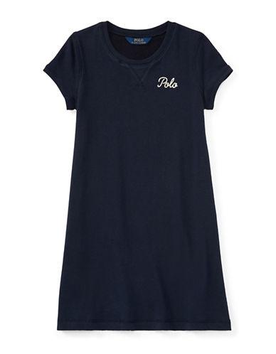 Ralph Lauren Childrenswear French Terry Tee Dress-BLUE-Medium 89700060_BLUE_Medium