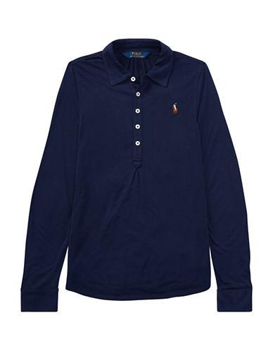 Ralph Lauren Childrenswear Jersey Long-Sleeve Popover-BLUE-XL