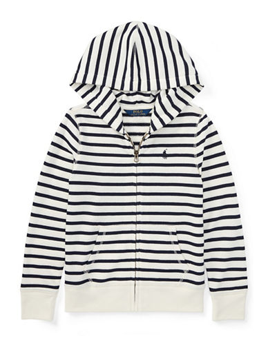 Ralph Lauren Childrenswear Striped French Terry Hoodie-BEIGE-Medium
