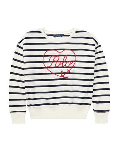 Ralph Lauren Childrenswear Striped Terry Sweatshirt-BEIGE-Small