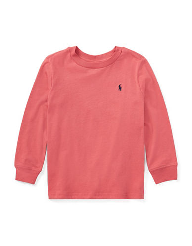 Ralph Lauren Childrenswear Long Sleeve Tee-RED-2T
