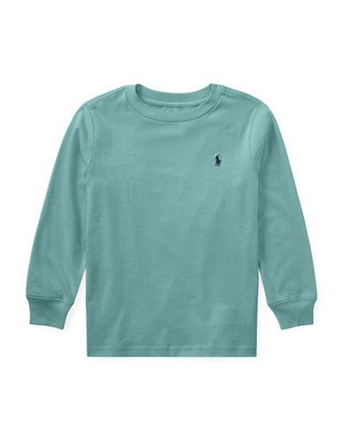 Ralph Lauren Childrenswear Long Sleeve Tee-GREEN-2T