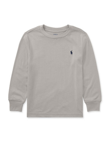Ralph Lauren Childrenswear Long Sleeve Tee-GREY-4T
