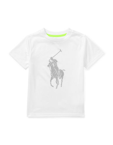 Ralph Lauren Childrenswear Performance Graphic Jersey Tee-WHITE-2T