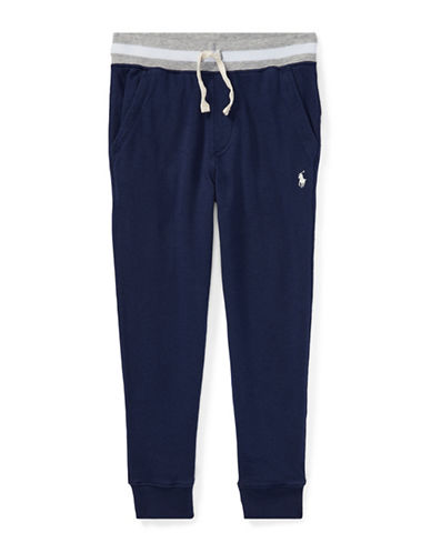 Ralph Lauren Childrenswear Cotton Logo Jogger Pants-BLUE-2T 89700327_BLUE_2T