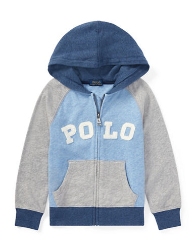 Ralph Lauren Childrenswear Cotton Logo Hoodie-GREY-3T
