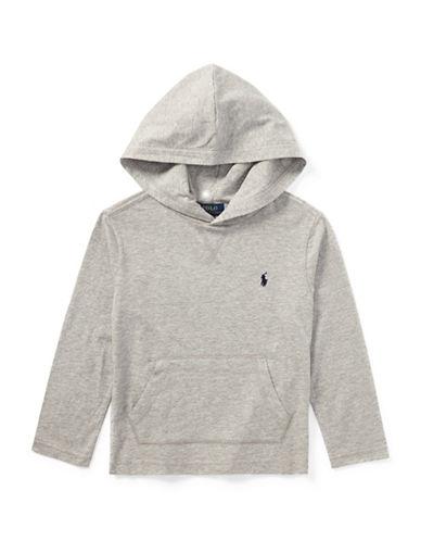 Ralph Lauren Childrenswear Hooded Cotton Tee-GREY-2T