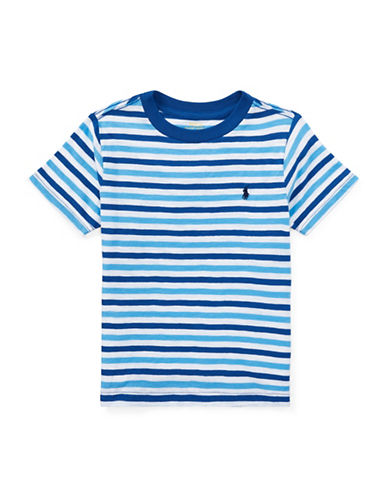 Ralph Lauren Childrenswear Stripe Cotton Tee-BLUE-3T